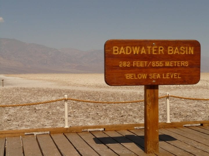 Badwater basin, the lowest point in the united states