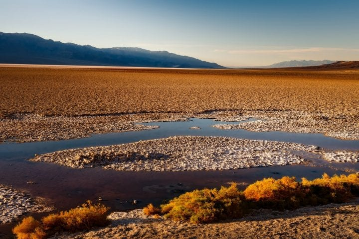 water in death valley