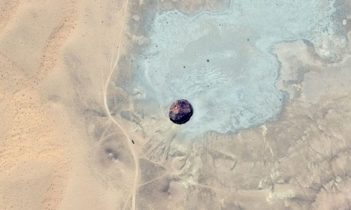 Ahole that is obscurred via google maps