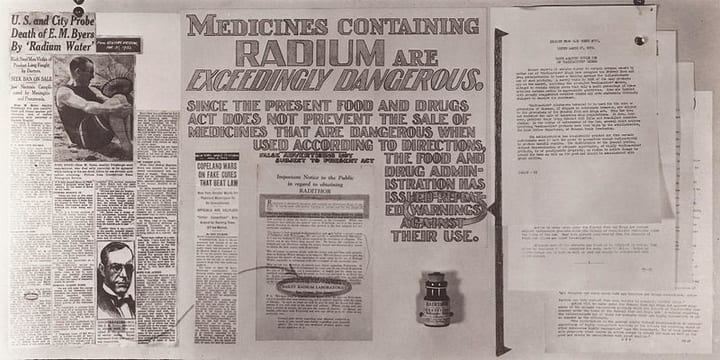 Radium ban food and drug administration