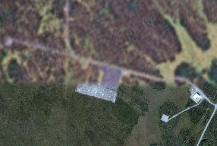 a blurred image on google earth