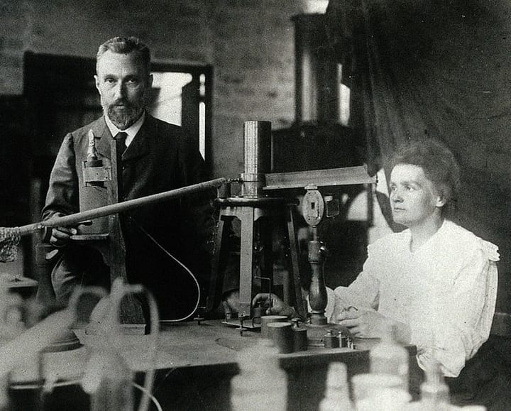 Marie Currie with Husband Pierre Curie