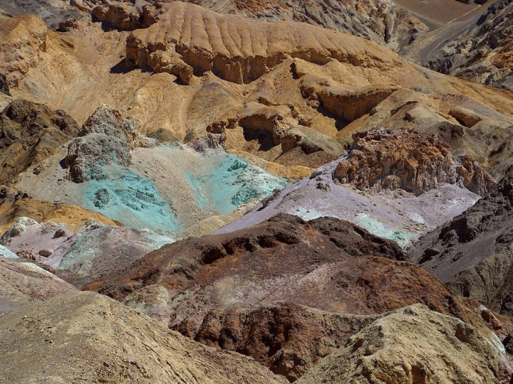 phosophous on death valley's mountains
