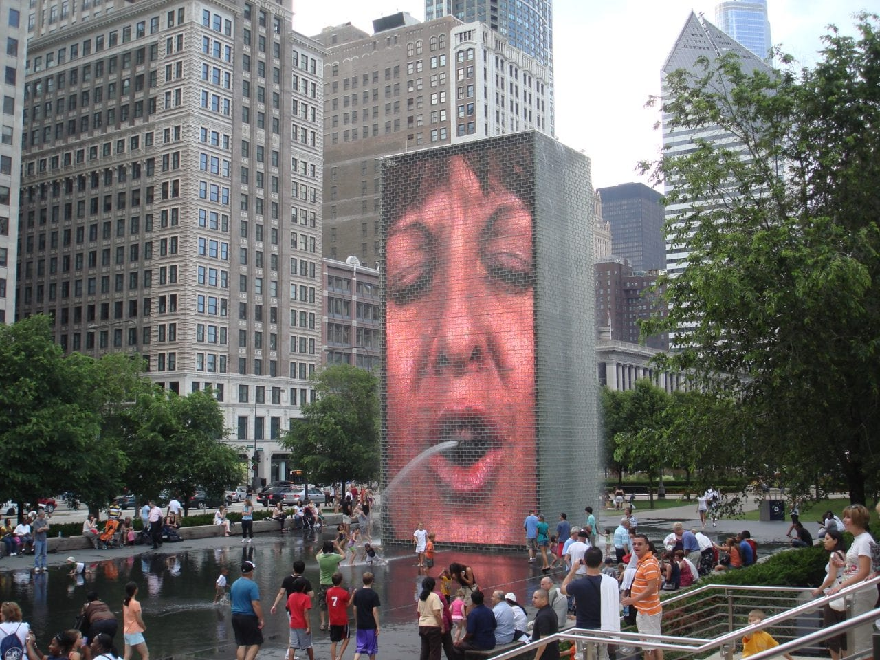 Crown water fountain chicago
