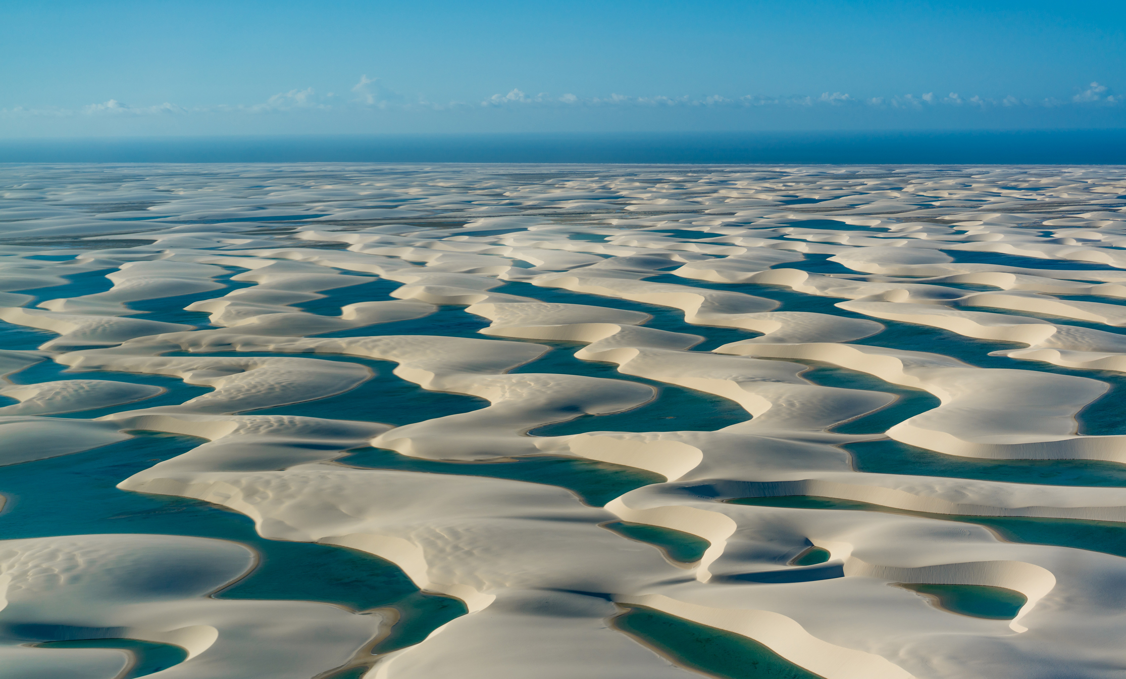 Beautiful sand dunes and lagoons in Brazil - landscape concepts