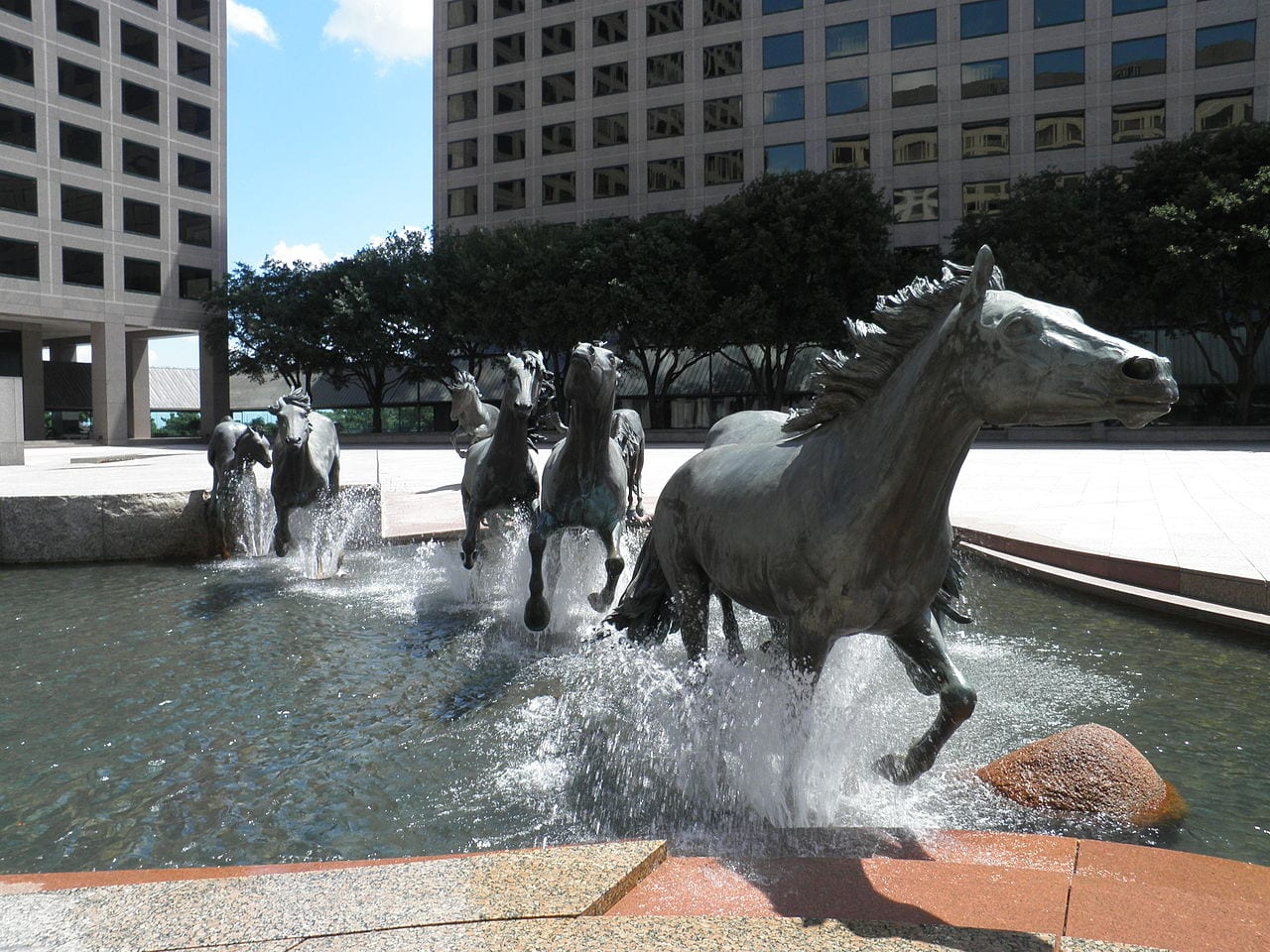 Mustangs of las colinas Texas water