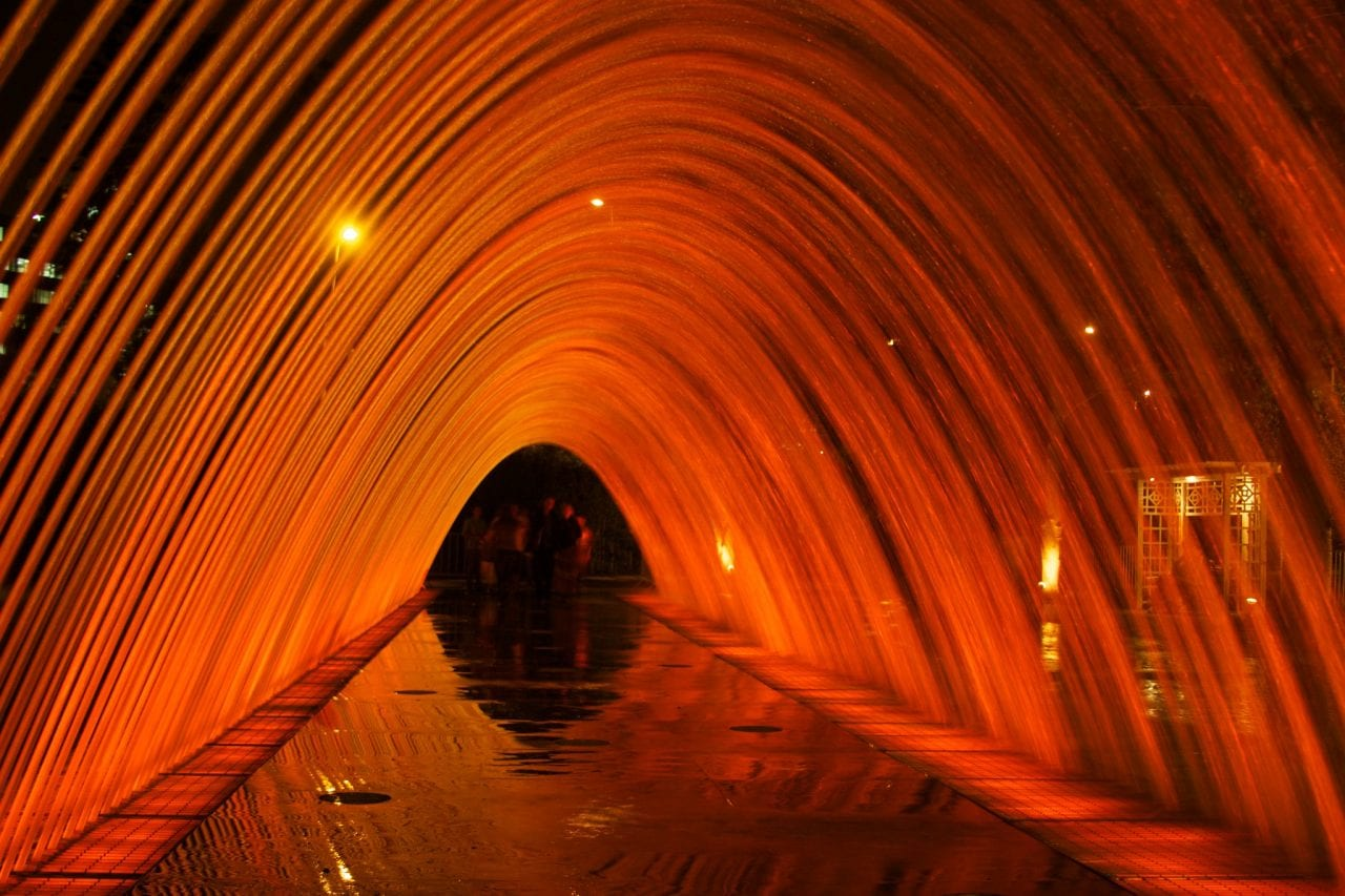 Tunnel of Surprises Lima Peru water fountain