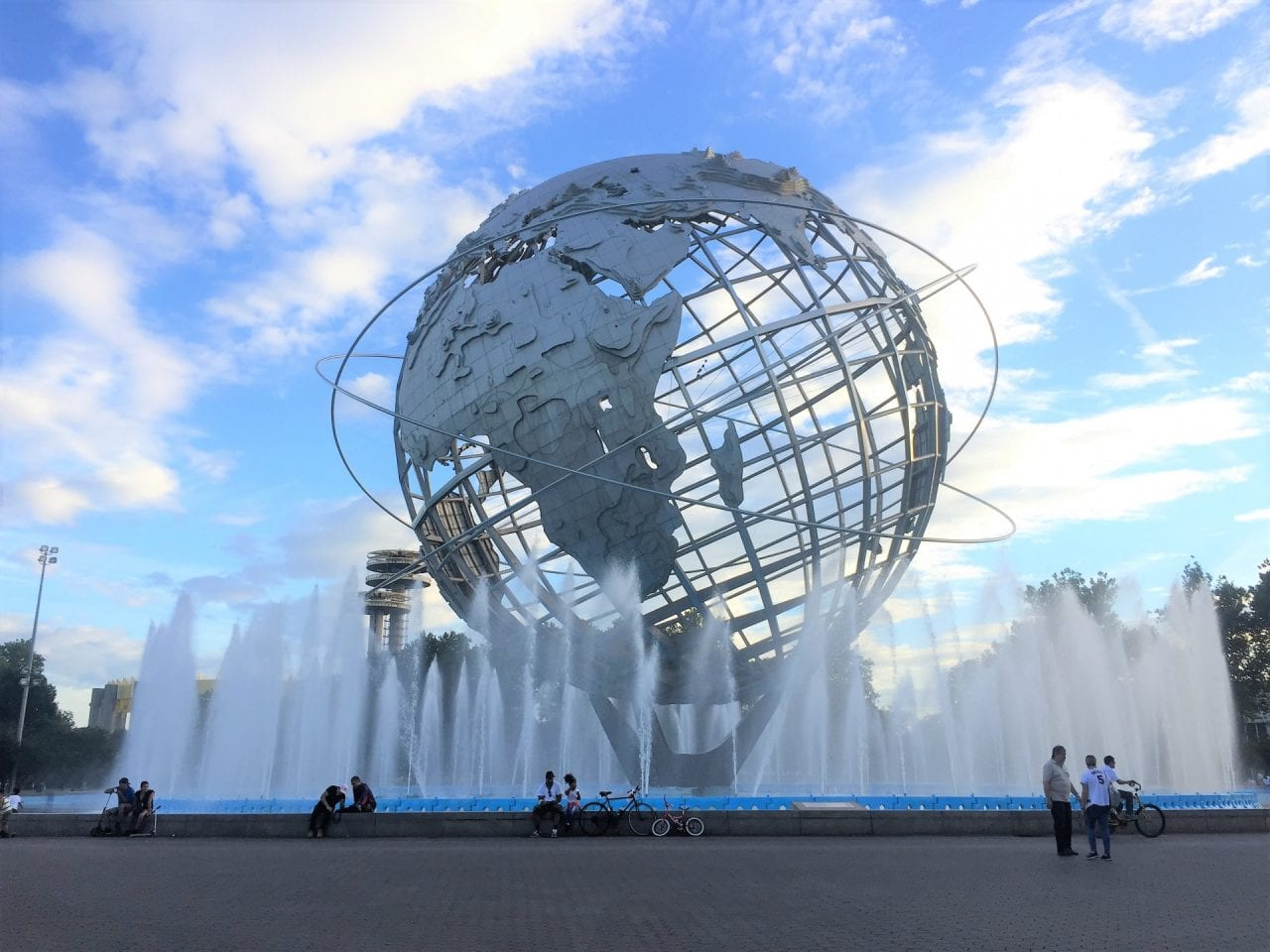 Unisphere fountain new york city