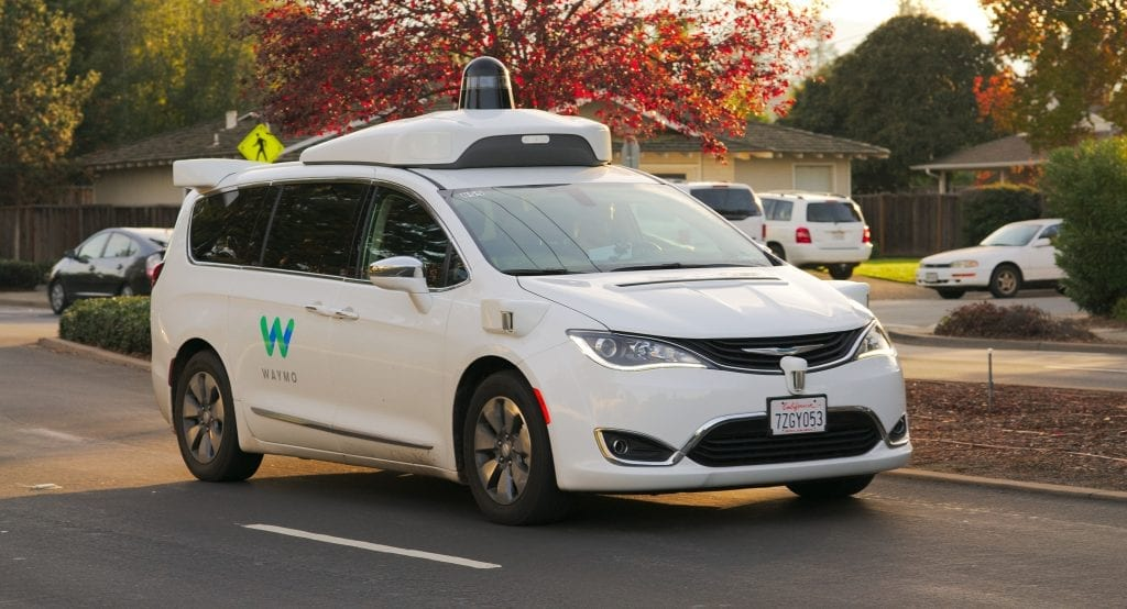 Google car waymo chrysler self-driving