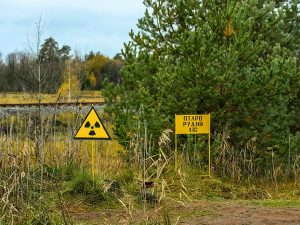 Red Forest, radiation sign