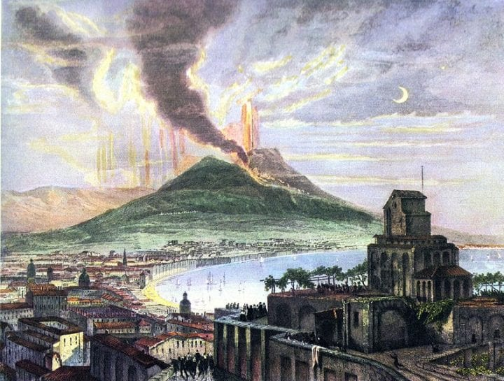 an ancient eruption that destroyed a town