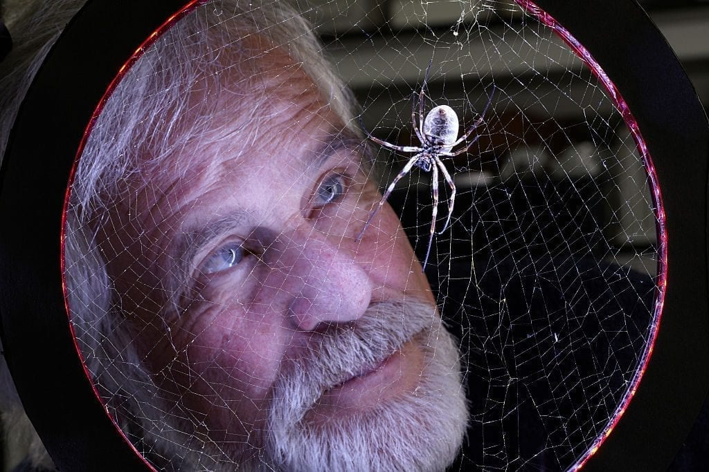 Fritz Vollrath, research leader at the Zoology dept, is heading a team of scientists known as the 'Oxford Silk Project' that is studying the biological, chemical and mechanical properties of silk from spiders webs for use in industry.