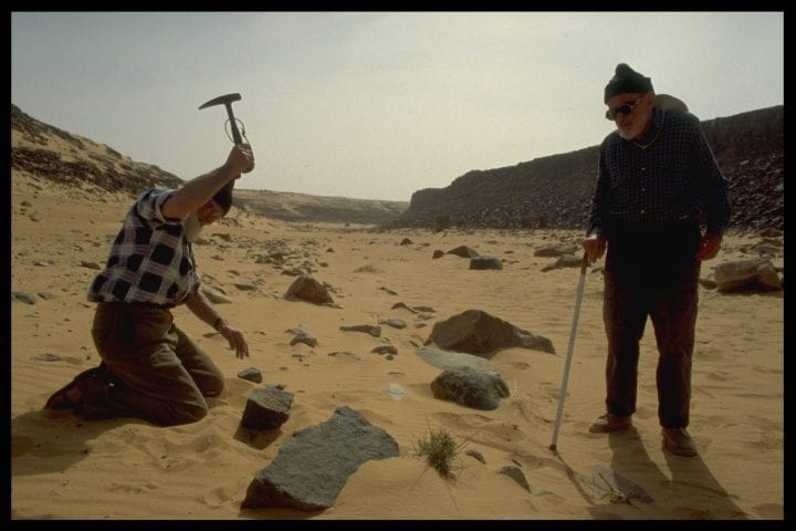 (Original Caption) Jean Fabre and Th{odore Monod collecting samples. (Photo by patrick chapuis/Sygma via Getty Images)