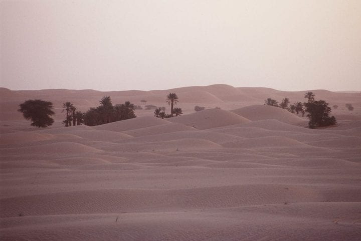 (Original Caption) Desert near Chinguetti. (Photo by patrick chapuis/Sygma via Getty Images)