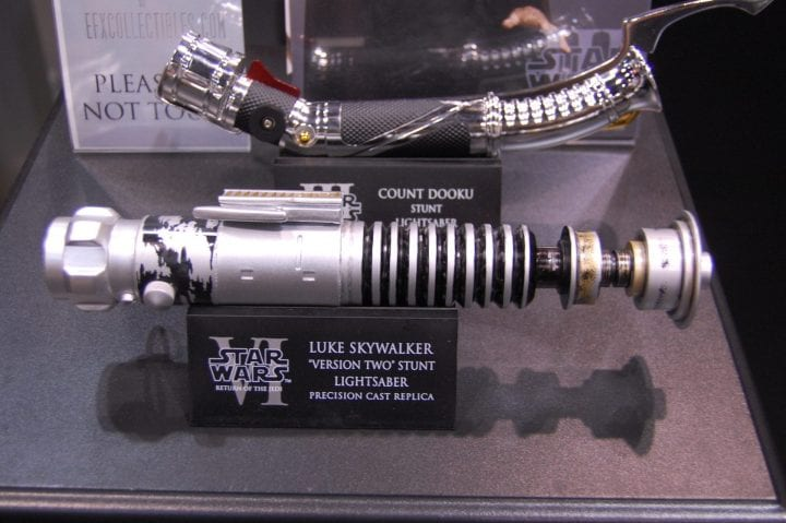 Luke Skywalker lightsaber sent to space