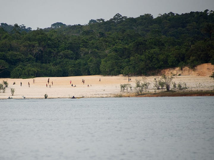 Amazon beach, Manaus, Brazil,