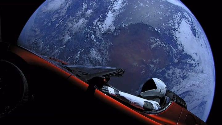 Tesla Roadster space starman