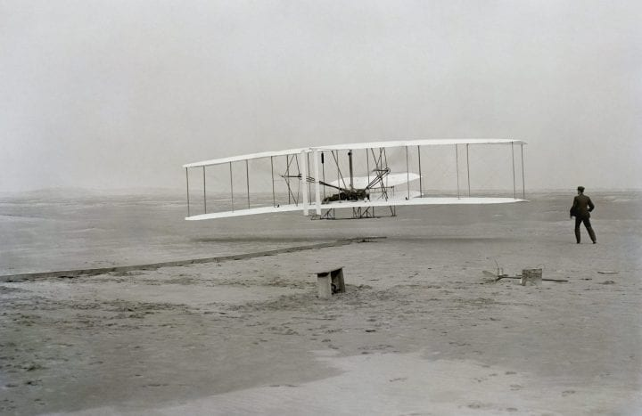 Wright brothers plane Apollo 11 sent to space
