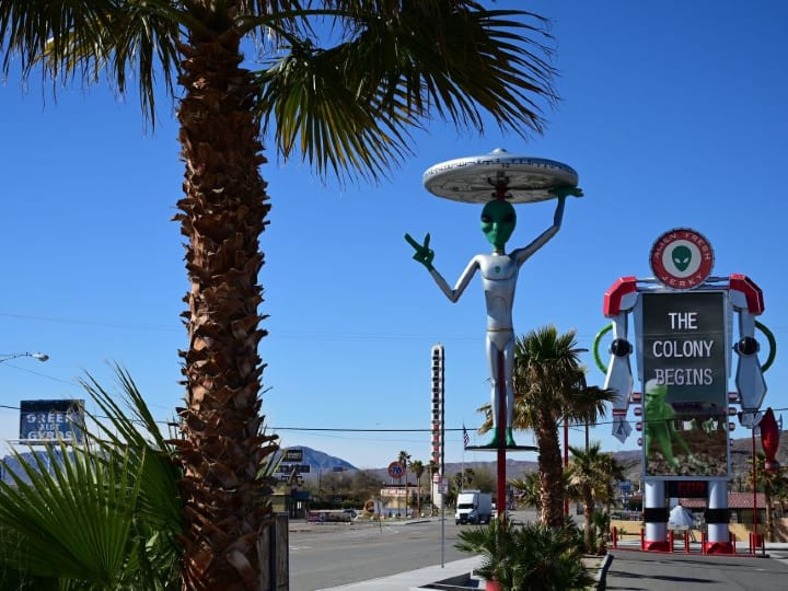Baker CA, outside Area 51, gateway to Area 51