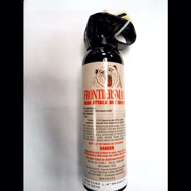 Bear spray, TSA, customs, carry-on