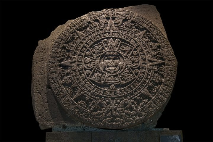 "Despite being known as a ""calendar stone,"" modern archaeologists believe it is more likely to have been used primarily as a ceremonial basin or ritual altar for gladiatorial sacrifices, than as an astrological or astronomical reference."