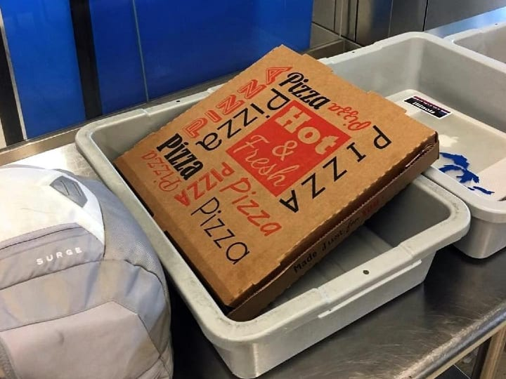 pizza, X-ray, scan, customs, TSA