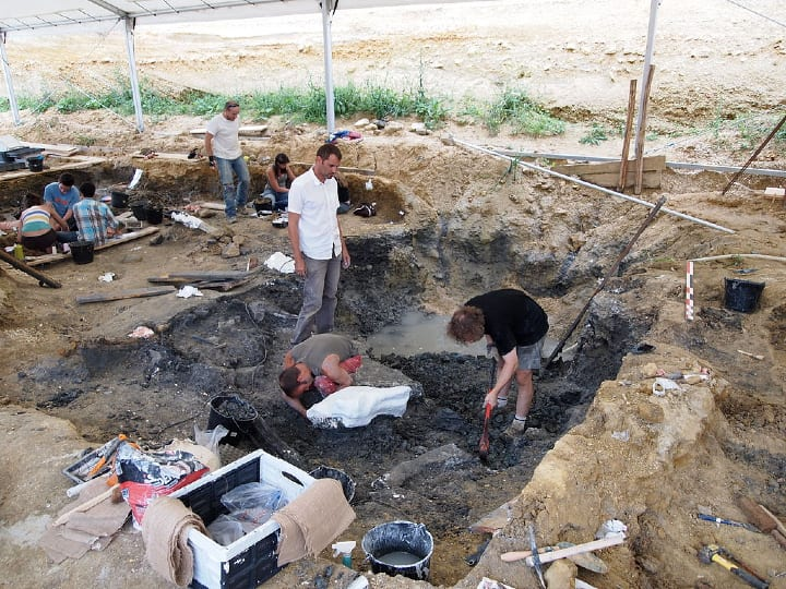 Angeac-Charente paleontological site, expansion, dig