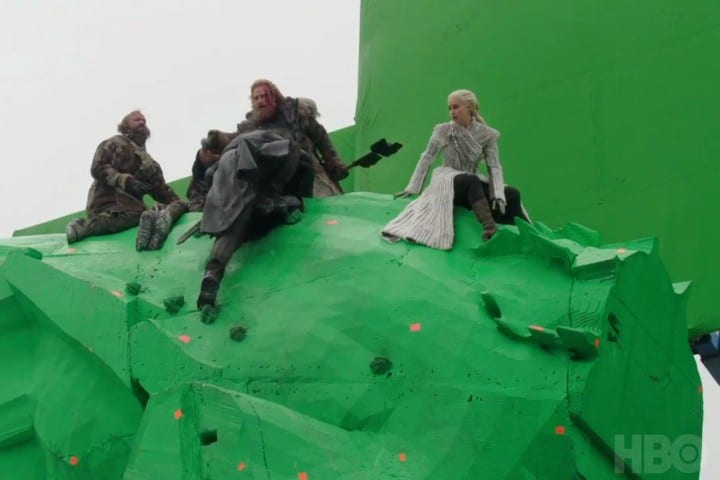Game of Thrones green screen dragon