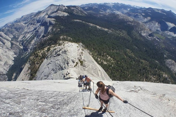 Dangerous natural tourist destinations Half Dome