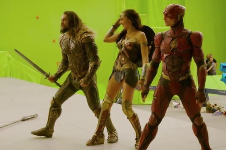 Justice League green screen