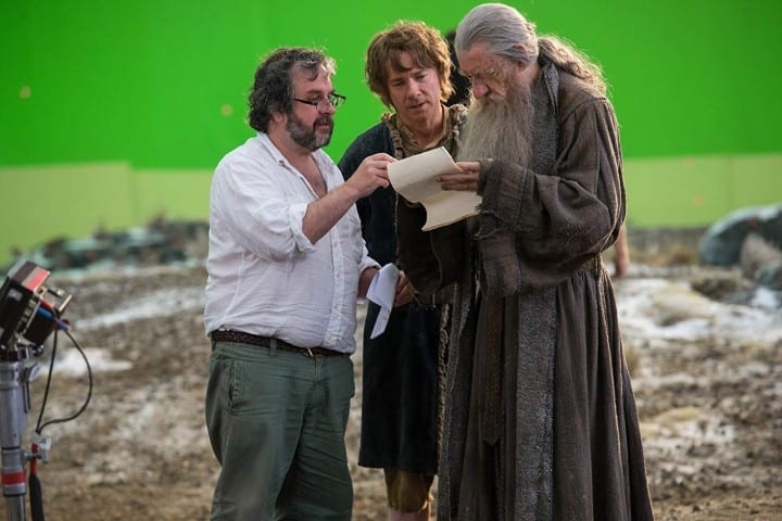 The Hobbit green screen set