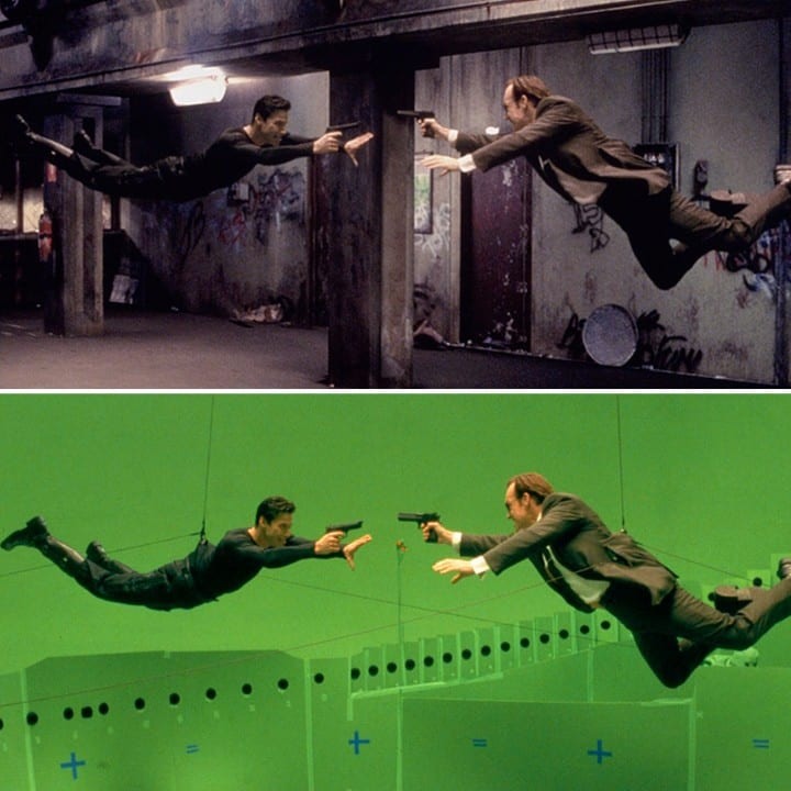 The Matrix green screen