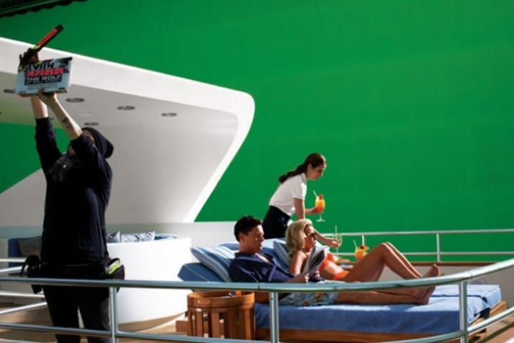 The Wolf of Wall Street green screen ship