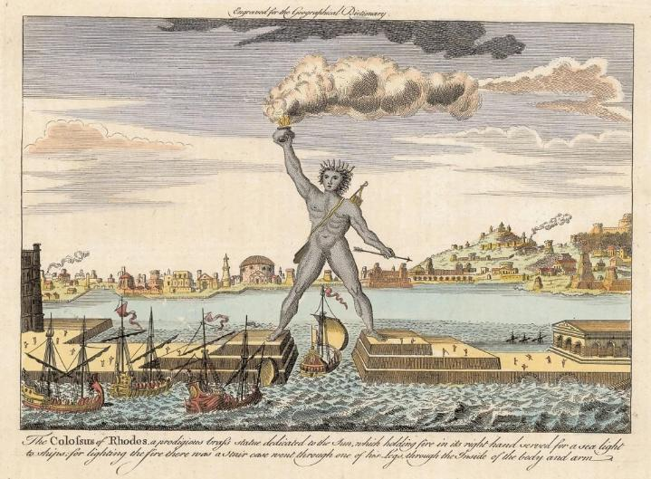 The Colossus of Rhodes, One of Seven Wonders of the Ancient World