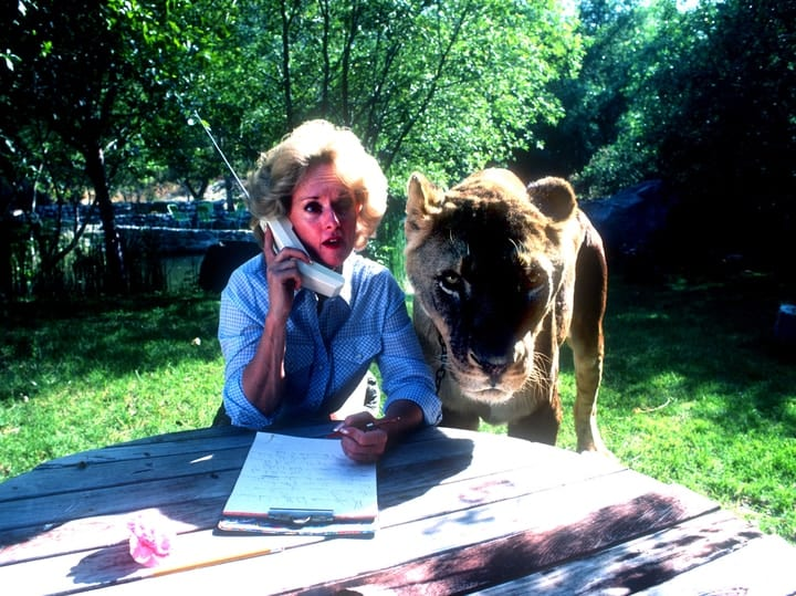 Tippi Hedren exotic weird pet lion