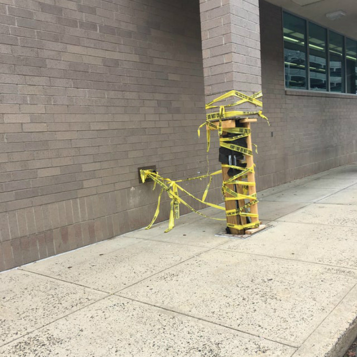 caution tape column fix