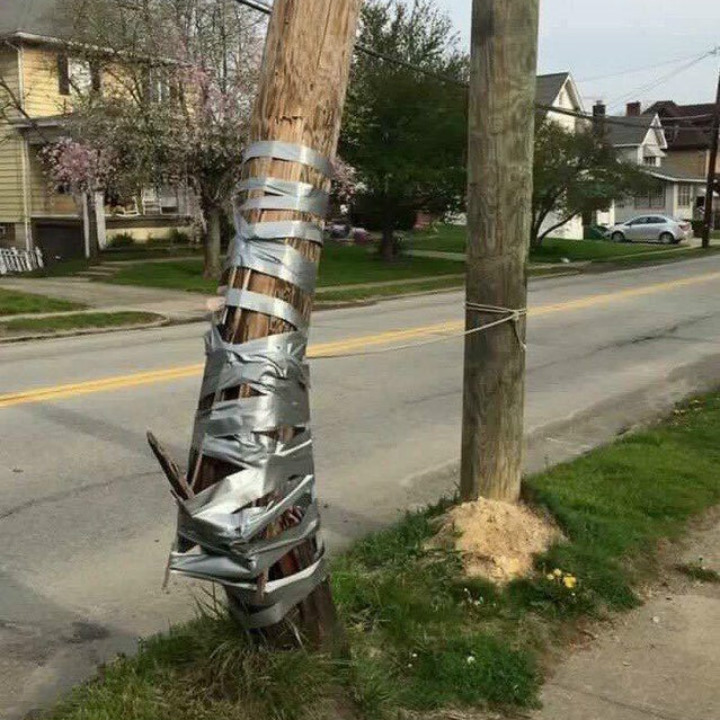 duct tape fixed pole