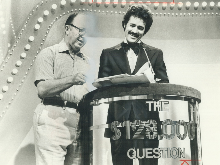 Smiling sudbury-born Alex Trebek. A quizmaster's profession can be hazardous.