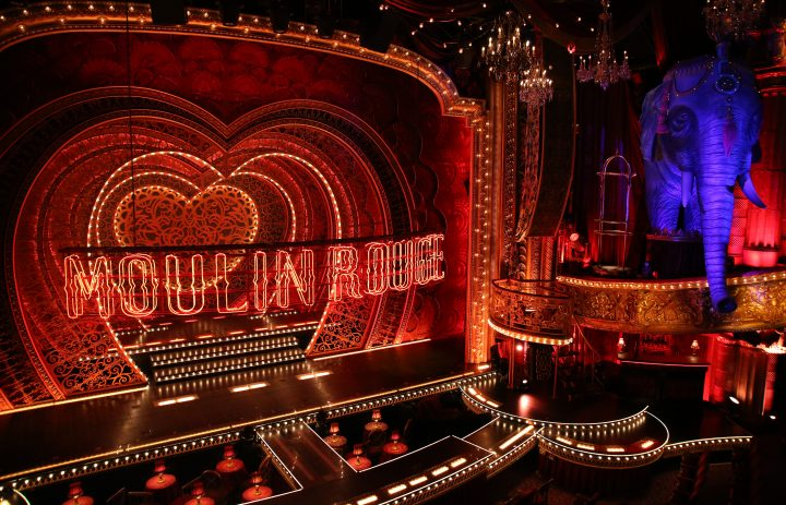 """NEW YORK, NY - JULY 09: Derek McLane scenic design for """"Moulin Rouge!"""" The Broadway Musical at the Al Hirschfeld Theatre on July 9, 2019 in New York City. (Photo by Walter McBride/Getty Images)"""