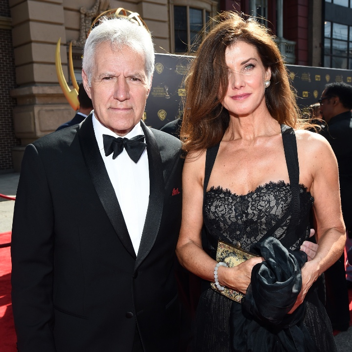 TV personality Alex Trebek (L) and Jean Currivan Trebek attend The 42nd Annual Daytime Emmy Awards at Warner Bros. Studios on April 26, 2015 in Burbank, California
