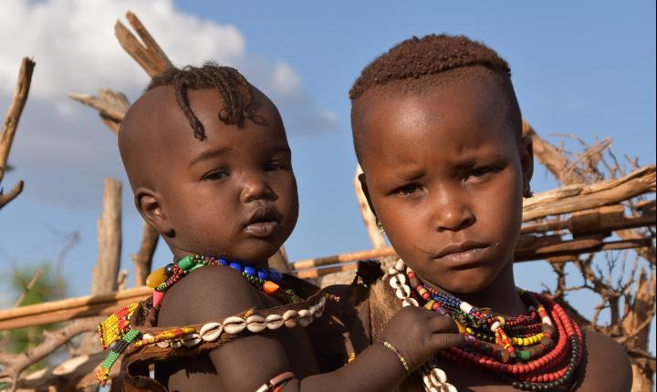 Two Ethiopian children