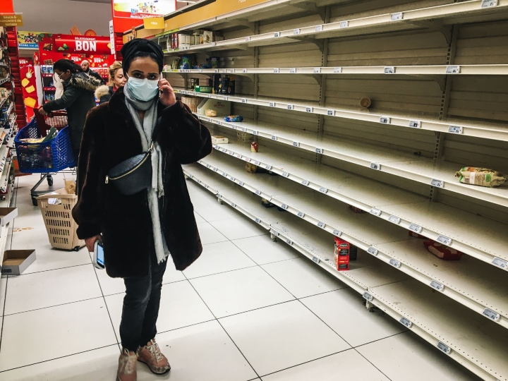 coronavirus, empty shelves, out of stock