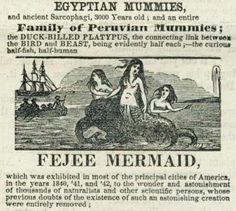 P.T. Barnum mermaid advert