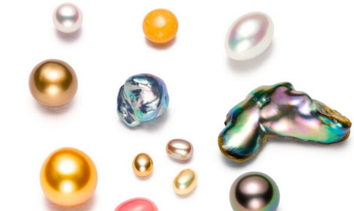 Various types of pearls