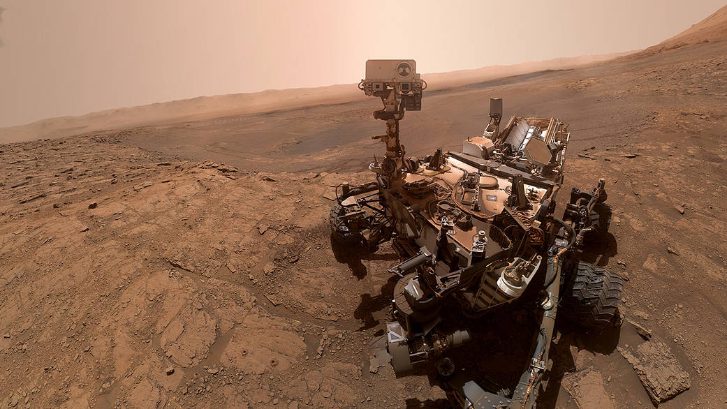 NASA's Curiosity rover took this selfie on Oct. 11, 2019, the 2,553rd Martian day, or sol, of its mission.